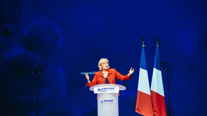 Meeting of Marine Le Pen at the Zenith of Paris.Marine Le Pen : Meeting au Zénith de Paris.